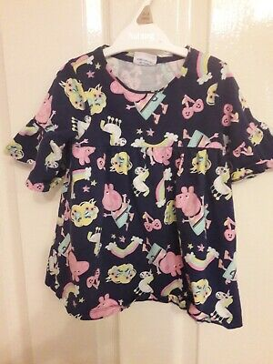 Tesco Baby Girls Peppa Pig And Unicorn Tunic top Age 12 To 18 Months
