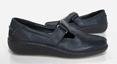 Ladies HOTTER ' SUNRISE ' Comfort Concept Navy leather Shoes Size 5 Exc Cond
