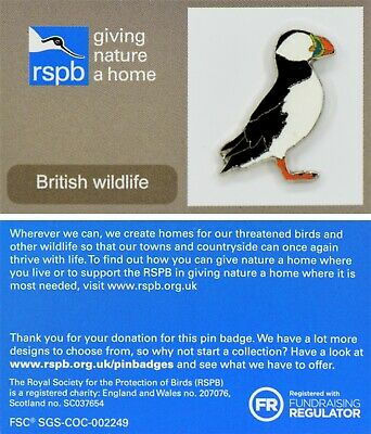 RSPB Pin Badge | puffin (no eye) GNAH Grey  | (01613)