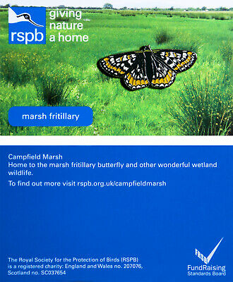 RSPB Pin Badge | Special  | marsh fritillary GNAH BLUE  | (01274)