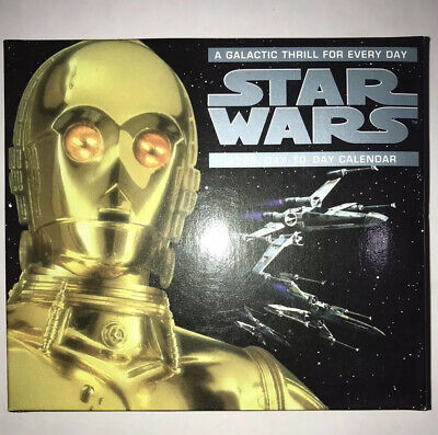 Star Wars 1999 Vintage Day To Day Calender In Great Condition