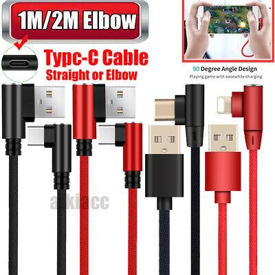 Deals Elbow/Straight Charger Charging Type C Cable For Samsung S10 9 LG Switch