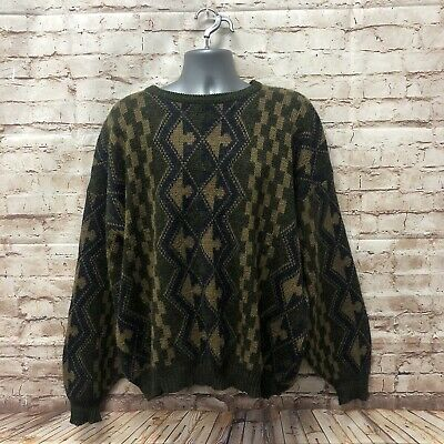 90's Patterned Jazzy Jumper - Size XL - Fast P&P