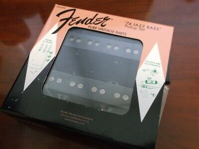 NEW Fender Vintage '74 Jazz Bass Pickup Set, 099-2243-000