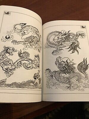 Dragon Outline Book Japanese Tattoo Art Reference Irezumi Mythical Creature Ryu