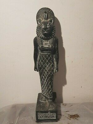 Rare Antique Ancient Egyptian Statue God Sekhmet Lion War Army Hunt 1730-1650BC