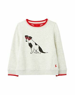 Joules Girls Viola Sweatshirt - Grey Dog- CLOSEOUT