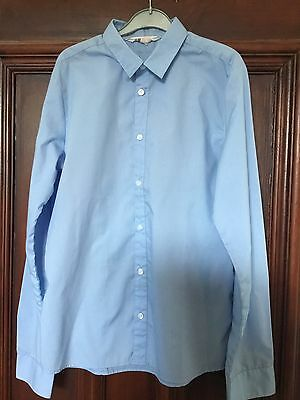 Boys H&M Pale Blue School Shirt  Age 14 Yrs Hardly Worn