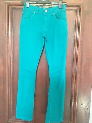Boys NEXT Teal Twill Jeans Age 11 Years