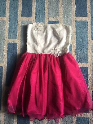 Girls BHS Charm Strapless Fully Lined Party Dress Age 13 Yrs