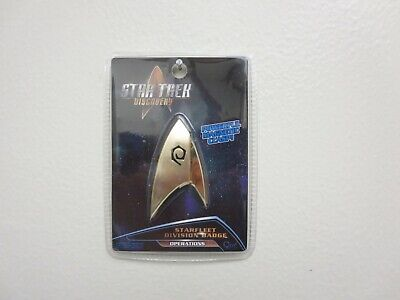 Star Trek Discovery QMx Magnetic Insignia Starfleet Operations Division Badge
