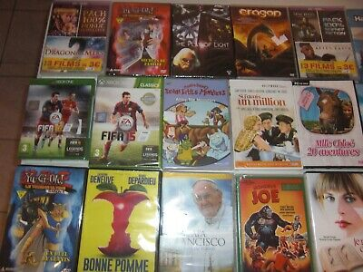 Lot Revendeur Solderie Destockage 30 Dvd / Jeux