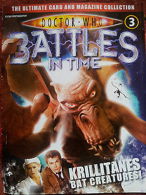 DOCTOR WHO Battles in Time Magazine Issue 3 KRILLITANES