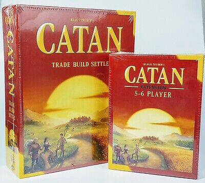 Full Catan game plus Settlers of Catan 5-6 Player Extension 5th Edition Bundle