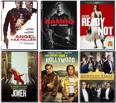 DVD (YOU PICK) Joker, Rambo: Last Blood, Angel Has Fallen, Ready or Not, & MORE!