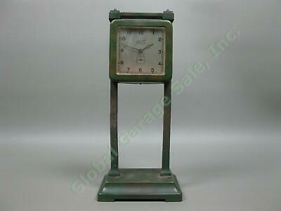 Antique 1913 Ansonia Gravity Bronze Metal 1-Day Clock For Parts/Repair New York