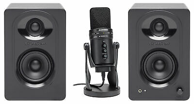 SAMSON G-Track Pro Studio USB Condenser Microphone+Audio Interface+(2) Monitors