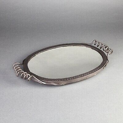 Mirror Tray Handmade Art Nouveau Wrought Iron 1.148EH