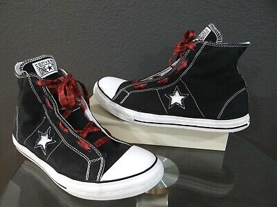 CONVERSE ONE STAR Hi Top Canvas black and white Men's Size