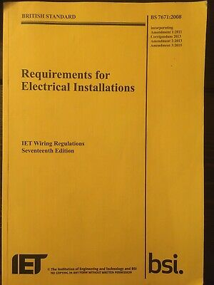 IET Wiring Regulations by The IET (Paperback) BS 7671:2008