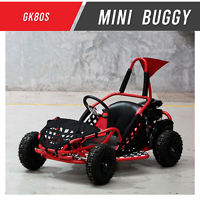 GK80SS - Mini 80cc Unleaded Off road Buggy Go kart RED Kids Entry Level 4 Wheel