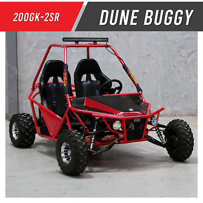 200GK-2SR - Double seater twin XL Premium Off road Dune buggy 200cc Unleaded Red