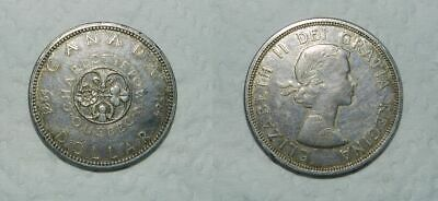 CANADA : QUEBEC SILVER DOLLAR 1964 - 36mm