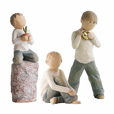 Willow Tree Figurines Set Siblings Three Brothers