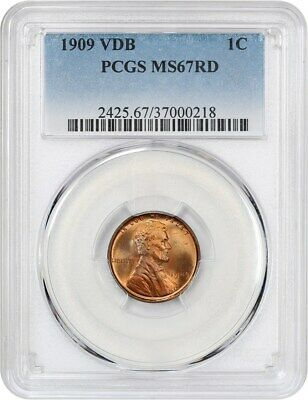 1909 VDB 1c PCGS MS67 RD - Lincoln Cent - Beautiful Superb Gem