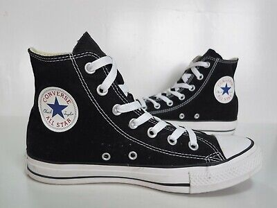 Ladies/Girls/Boys CONVERSE Black High-Top Canvas Trainers Size 6 Exc Cond