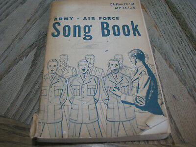 Vintage ARMY-AIR FORCE SONG BOOK DA Paam 28-101 AFP 34-10-5 - Used