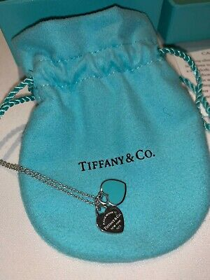 Tiffany Mini Double Heart Tag PendantDetails: Sterling Silver, Tiffany Blue...