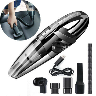 Rechargeable Handheld Car Vacuum Cleaner Cordless Powerful Suction Wet & Dry Use
