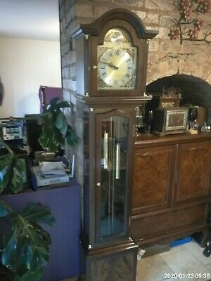 Mahogany 8 day Ting Tang Striking Grandfather Clock weight driven