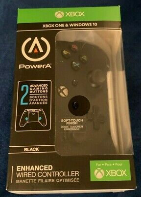 NEW Open Box Power A Enhanced Wired Controller for Xbox One & Windows 10 - Black