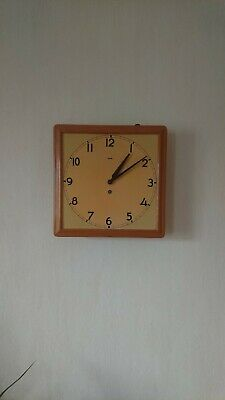 German industrial factory or school clock by Mauthe in good working order