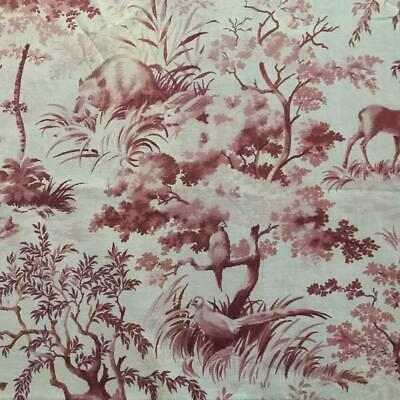 BEAUTIFUL LATE 19th/EARLY 20th CENTURY COTTON TOILE DE JOUY DEER RABBITS etc 702