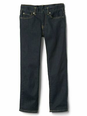 Boys` New GAP Flannel Lined Warm Winter Jeans Age 12 Dark Blue