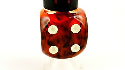 Antique Old Amber Bakelite Dice Gebetskette Catalin RARE Veined 45 Gram