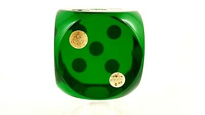 Antique Old Amber Bakelite Dice Gebetskette Catalin RARE Green 50 Gram