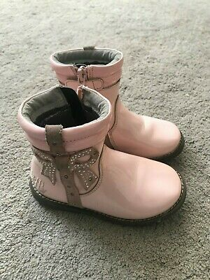 Lelli Kelly Girls Pale Pink Patent Boots Euro 24 Uk Infant 7