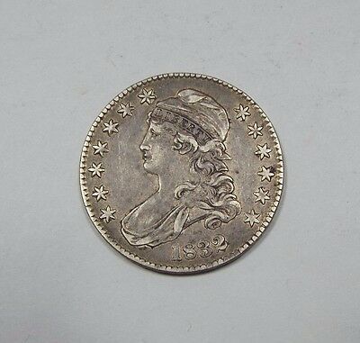 1832 Capped Bust/Lettered Edge Half $ EXTRA FINE Silver 50-Cents