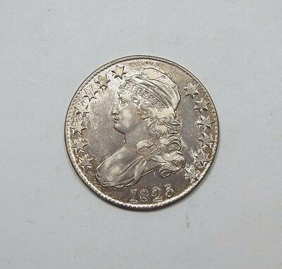 1825 Capped Bust/Lettered Edge Half Dollar EXTRA FINE/ALMOST UNC Silver 50c