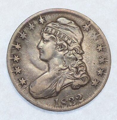 1832 Capped Bust/Lettered Edge  Half Dollar EXTRA FINE Silver 50c