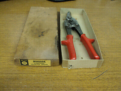 Vintage Niagra USA Compound Leverage Shears Tin Snips Cuts Left IOB