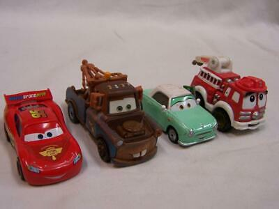 Mattel Cars Set 4 Disney Pixar Toy McQueen Mater Red Fire Truck+ Diecast Loose