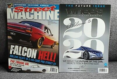 STREET MACHINE MAGAZINE & WHEELS YEAR BOOK 19' FREE POSTAGE UN-READ the lot