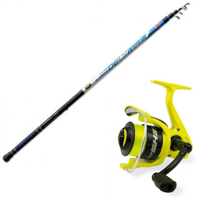 KP4414 Kit Pesca Bolognese Canna Delta Strong 4m Mulinello Evo Suprme 3000 RNG