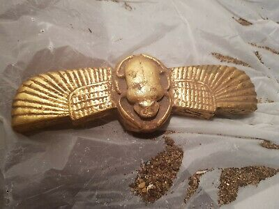 Rare Antique Ancient Egyptian winged  Scarab Good Luck Hiroglyphic1790-1680BC