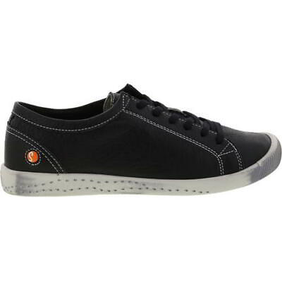 Softinos by Fly London Isla Womens Soft Leather Black Trainers Shoes Size 4-8